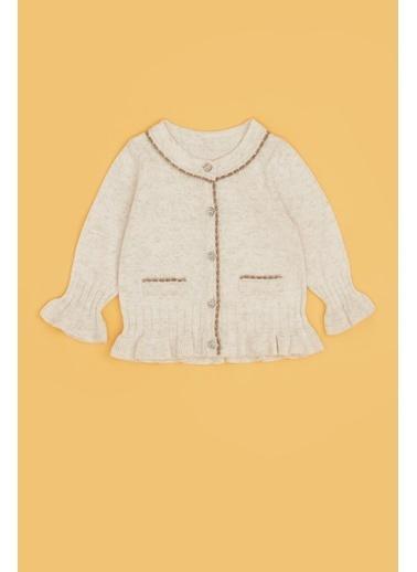 BG Baby Kız Bebek Ekru Hırka 20Pfwbg2705 Ekru
